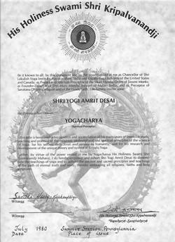 Yogacharya Award