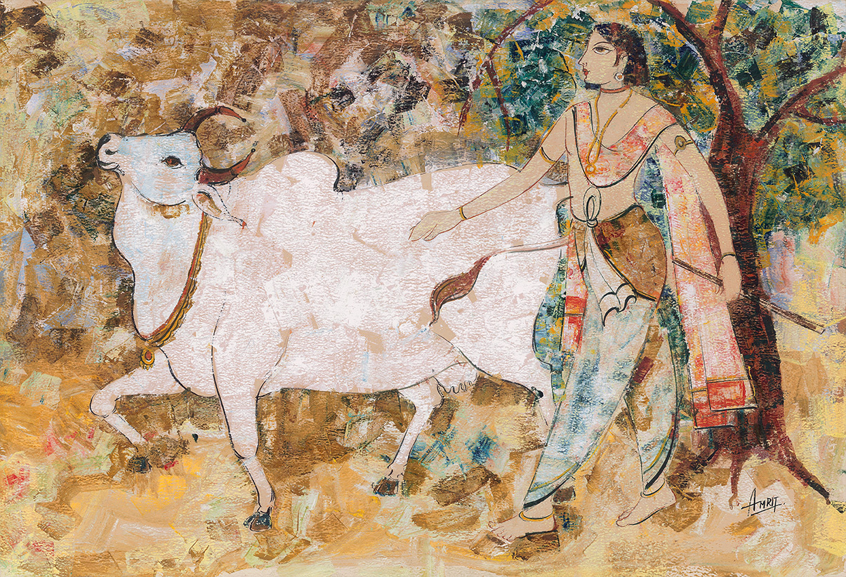 Herder with Brahman