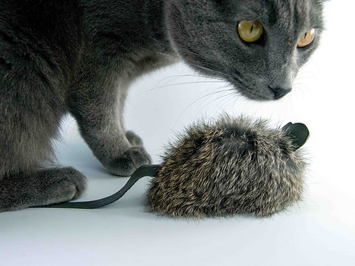 real fur cat toys