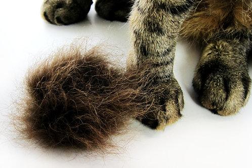 Real Buffalo Fur Cat Fetch Toy, Flingin' Kitty Biscuit