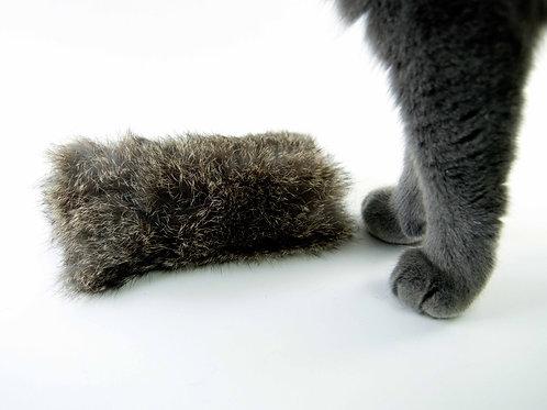 rabbit fur cat kicker toy