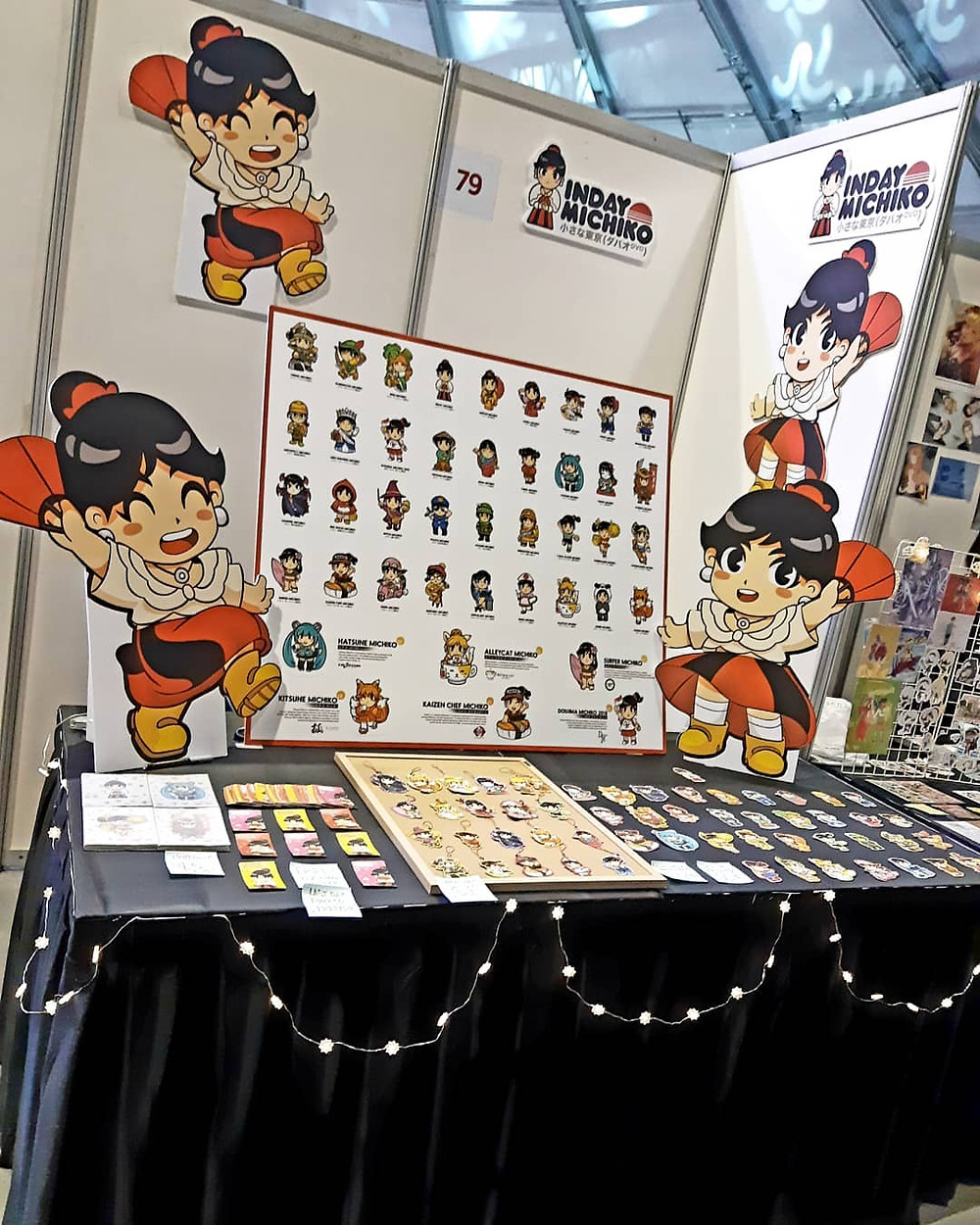 Inday Michiko's Booth at Cosfest 2018