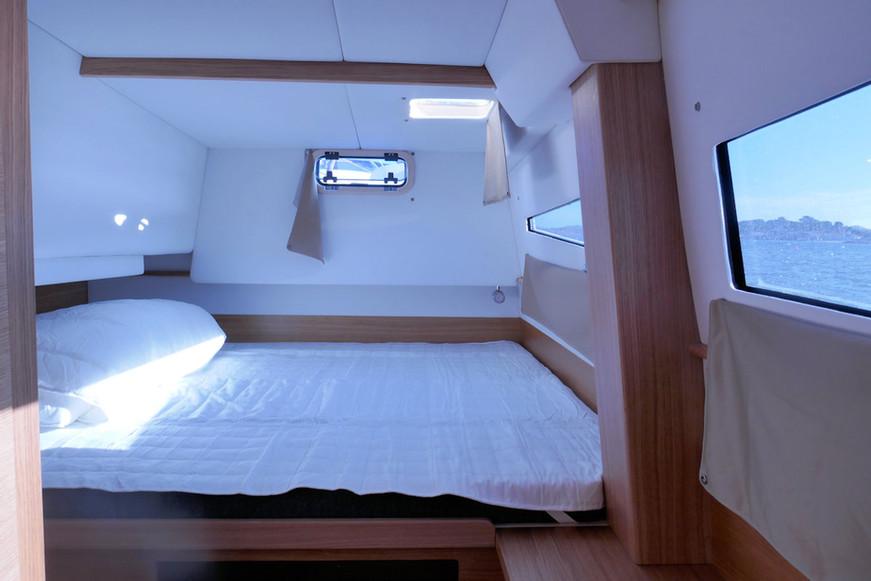 Couchage visiteurs bâbord - Catamaran C-Cat 37 Sea Spell en location à Hyères