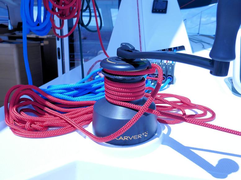 Winch Karver 4 vitesses - Catamaran C-Cat 37 Sea Spell en location à Hyères
