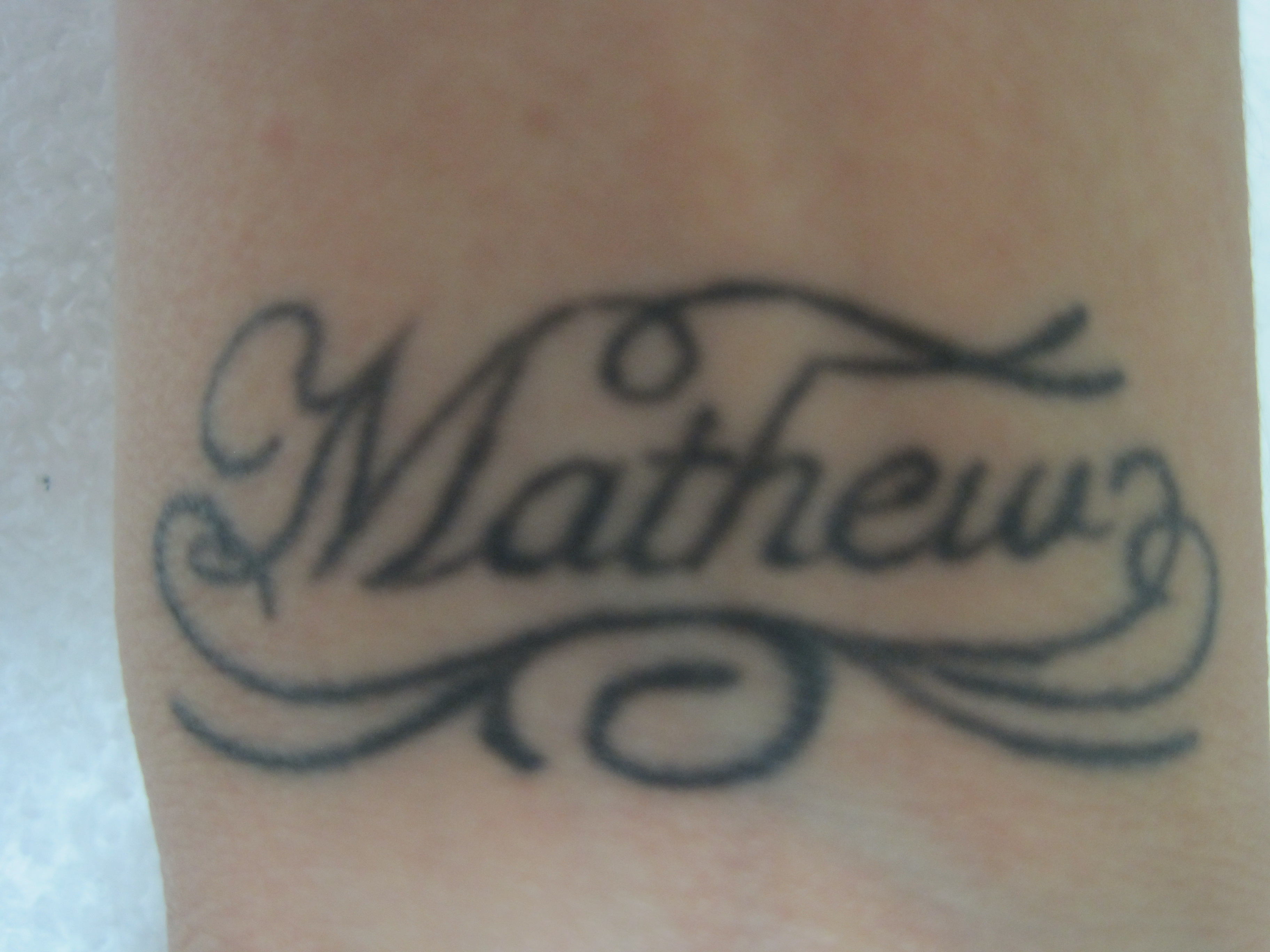 Tattoo on inner wrist