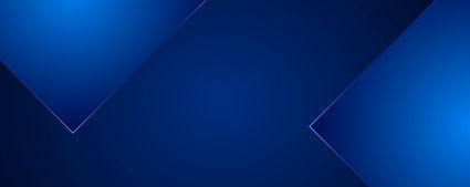 banner azul com triângulos azuis escuros