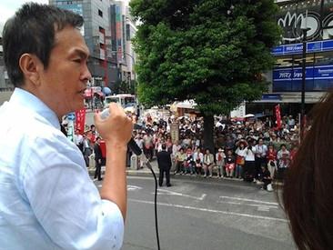 吉祥寺駅前にて丸川珠代候補が最後の訴え