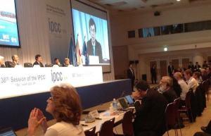 IPCC総会にて演説
