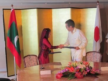 モルディブと温暖化防止で合意