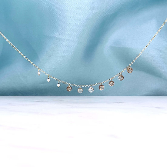 Floating Diamond & Pearl Necklace
