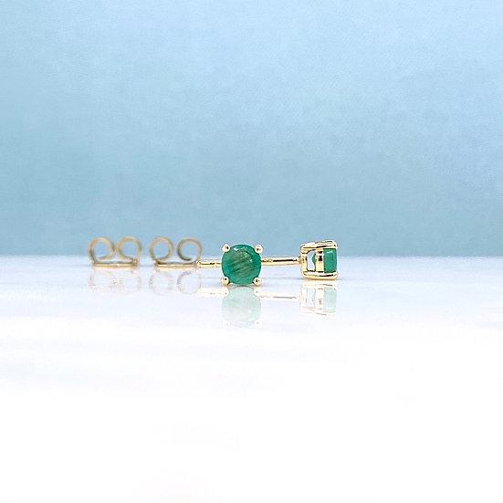 Natural Emerald Studs