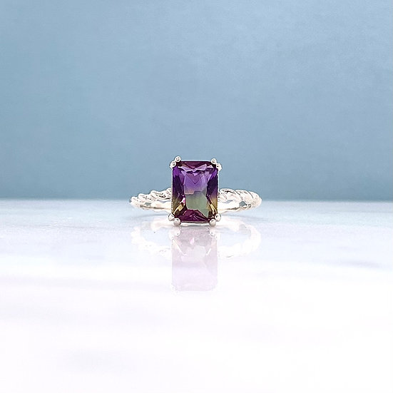 Created Ametrine Twist Ring