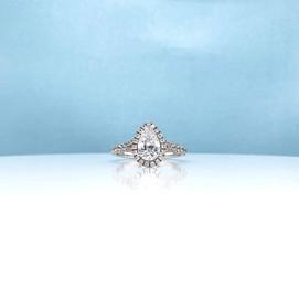 Pear Cut Diamond Halo Ring