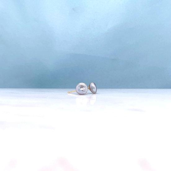 Atlantis Grey Keshi Pearl Studs