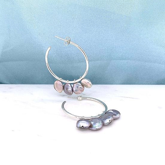Atlantis Pearl Hoop Earrings