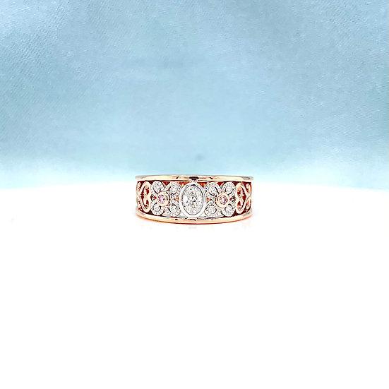 White & Pink (Argyle) Diamond Deco Ring