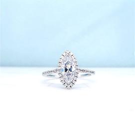 Marquise Cut Diamond Halo Ring
