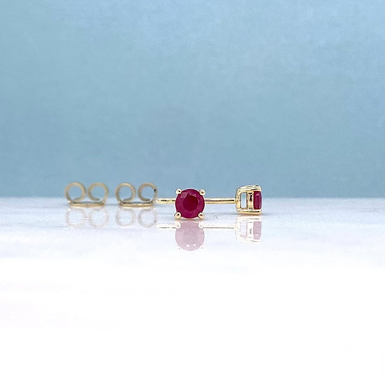 Natural Ruby Studs
