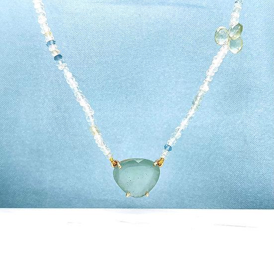 Aquamarine & Green Beryl Necklace