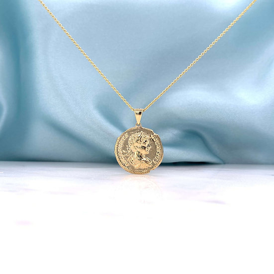 Rose Gold Replica Ancient Greek Coin