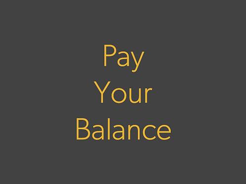 Pay your balance