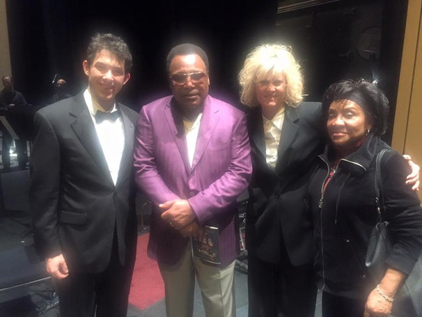 Backstage at Symphony Hall with George and Mrs. Benson