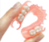 Flexible partil acrylic teeth false tooth natural