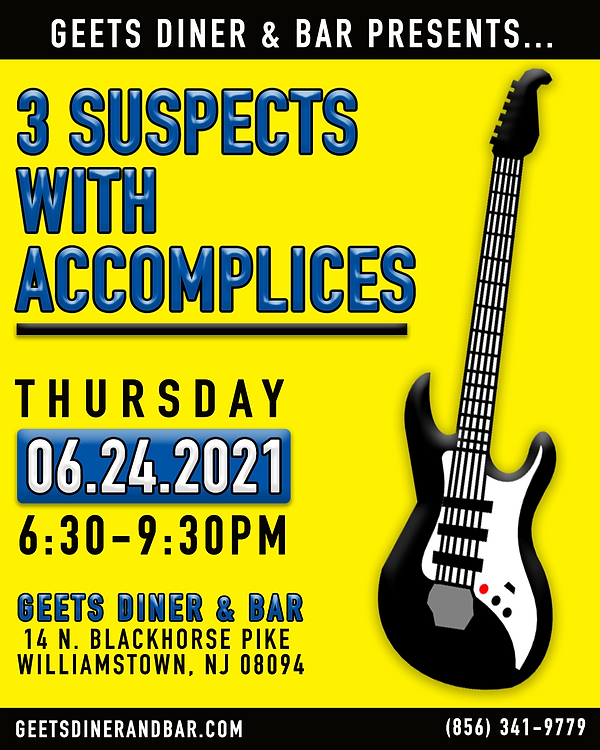 3 Suspects & Accomplices - Flyer June 24