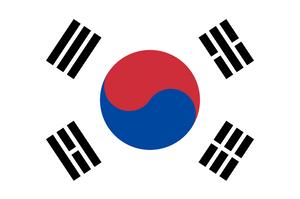Current flag of the Republic of Korea