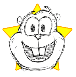 A cartoon-style image depicting a gopher's head smiling, representing the gopherspace