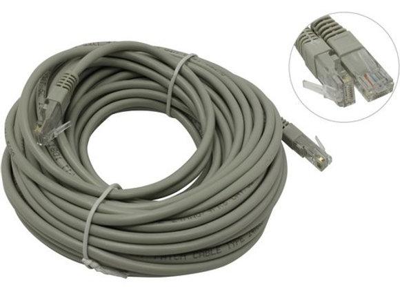 Кабель Patch Cord UTP кат.5e 15м, серый