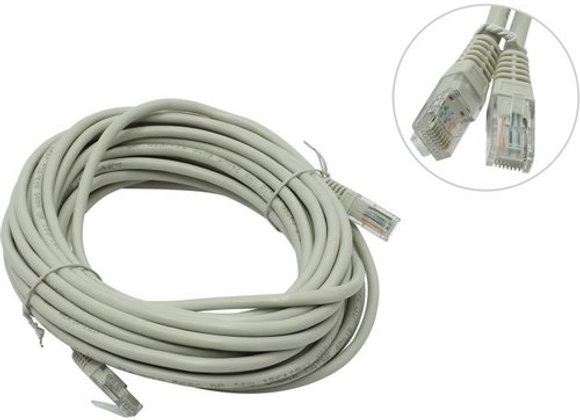 Кабель Patch Cord UTP кат.5e 10м, серый