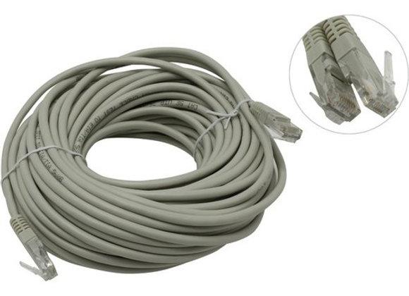 Кабель Patch Cord UTP кат.5e 25м, серый