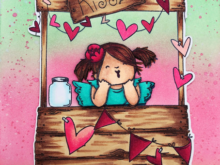 Stop by the Kissing Booth! (Repost from Crafty Doodle Chick Blog)