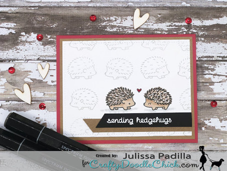 Sending Valentine Hedgehugs! (Repost: Blog Post for CraftyDoodleChick.com)