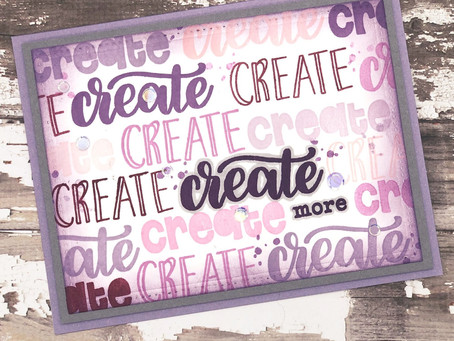 Eat, Sleep and Create! (Repost: Blog Post for CraftyDoodleChick.com)