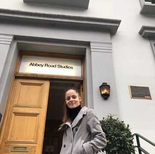 Eva at Abbey Road Studio, London, England.