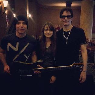 Ms Eva Kourtes, Mr Joe Satriani & Mr Steve Vai.