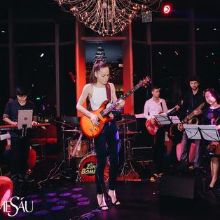 Eva Kourtes performing at 'Madam Sau', in Ho Chi Minh City, Vietnam