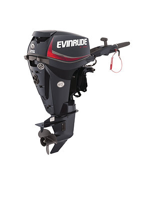 "Evinrude 25hp, 20"" shaft, tiller"