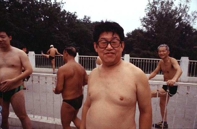 Year-round swimmers, Yuyuan Pool, summer