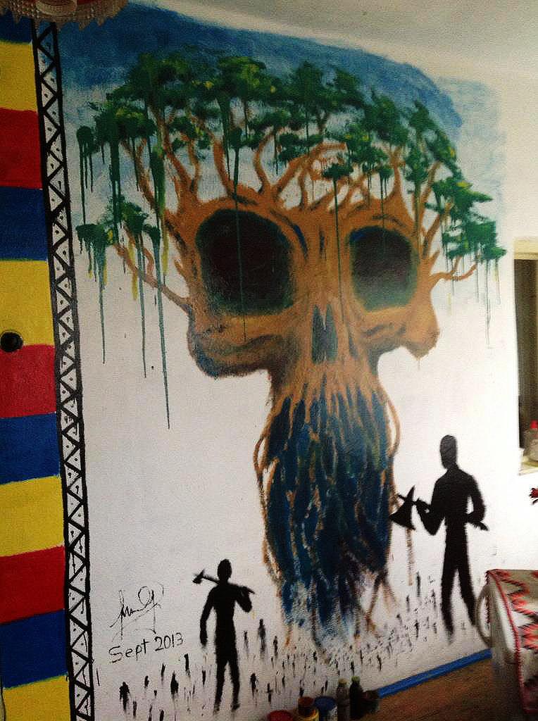 Mural en la cocina