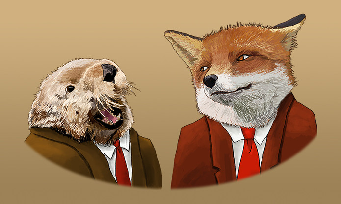 Otter and Fox