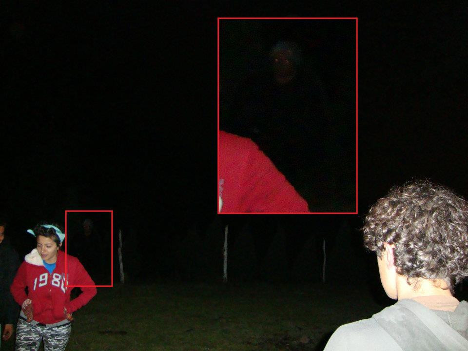 Photo of the supposed ghost with close-up