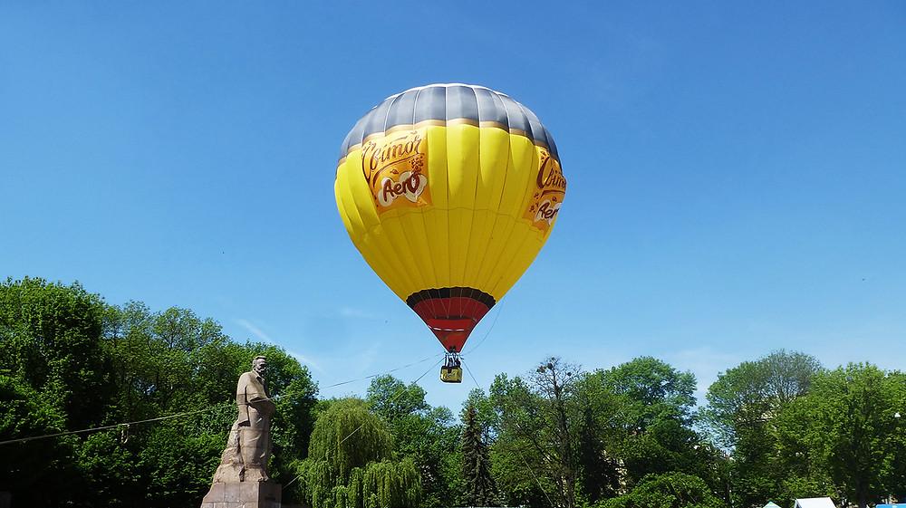 Air balloon in Lviv, Ukraine