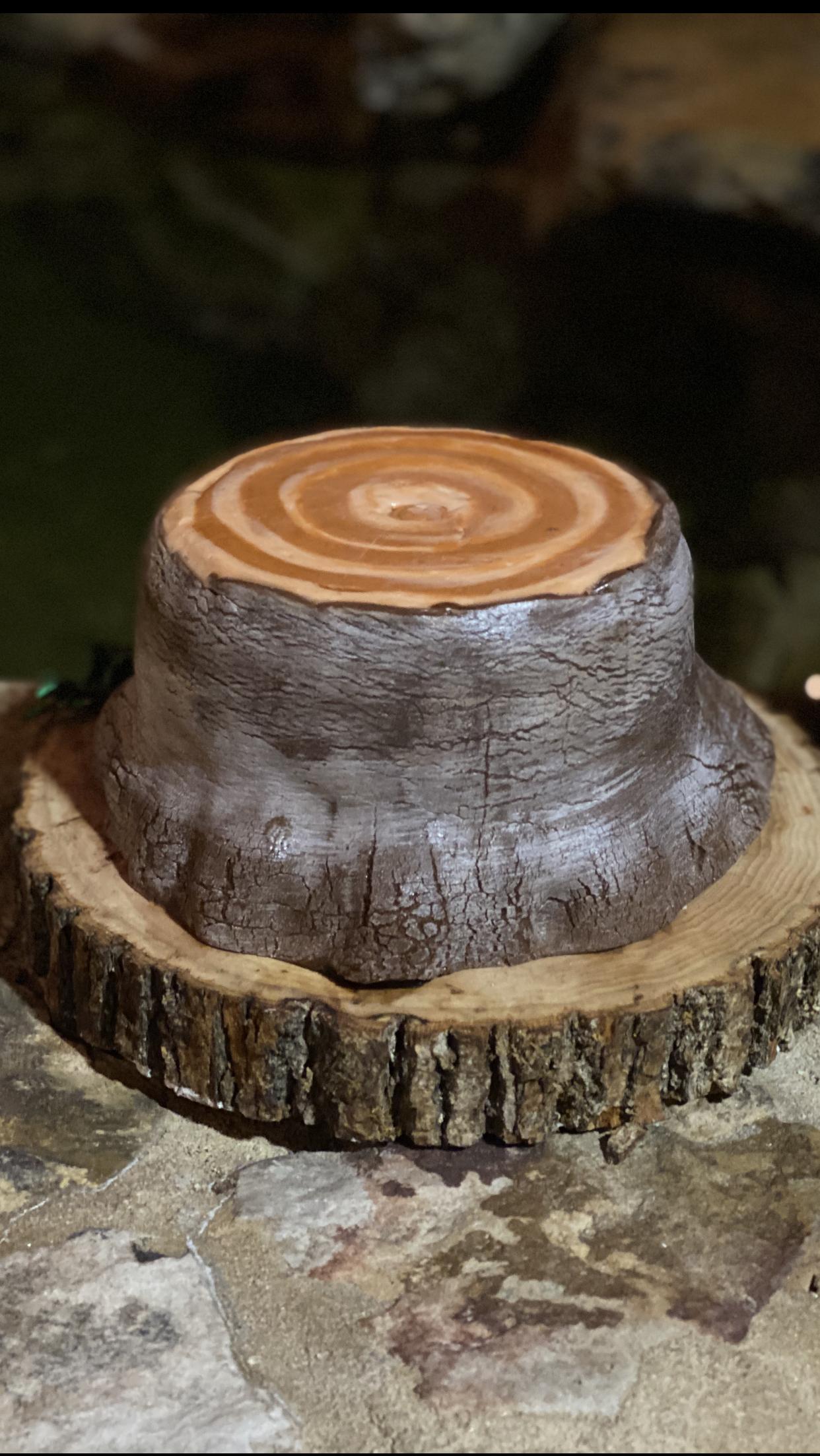 Tree log cake