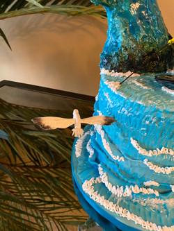 side bird ski cake