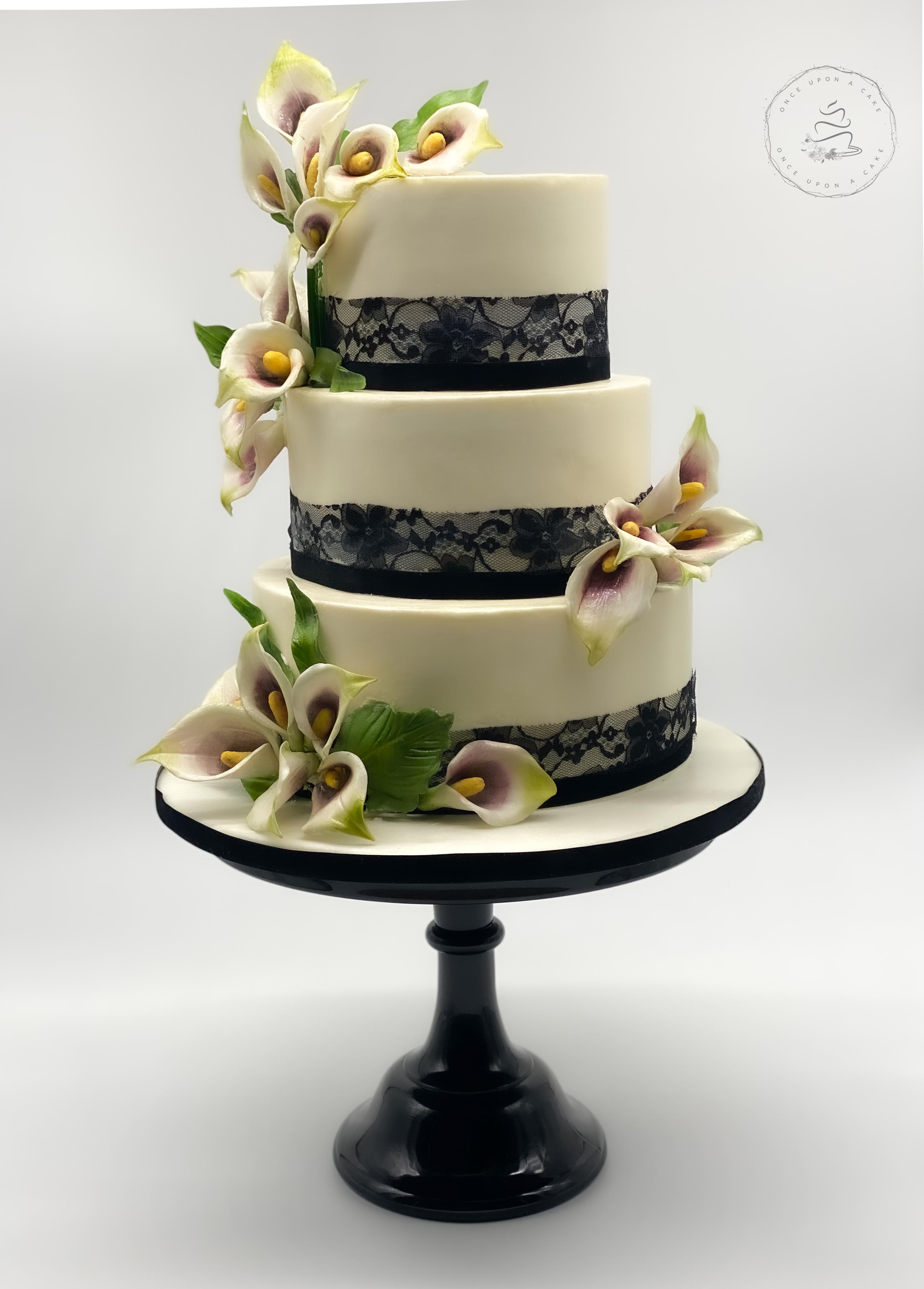 Cala Lily Sugar Flower Wedding Cake