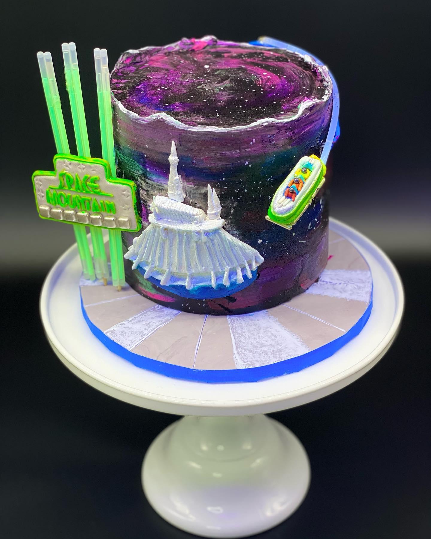 Space mountain Cake