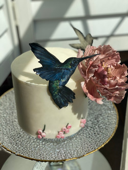 Humming Bird cake Peony flower